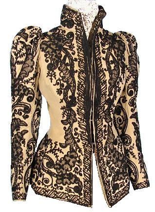 c. 1891 Wool Soutache Jacket: