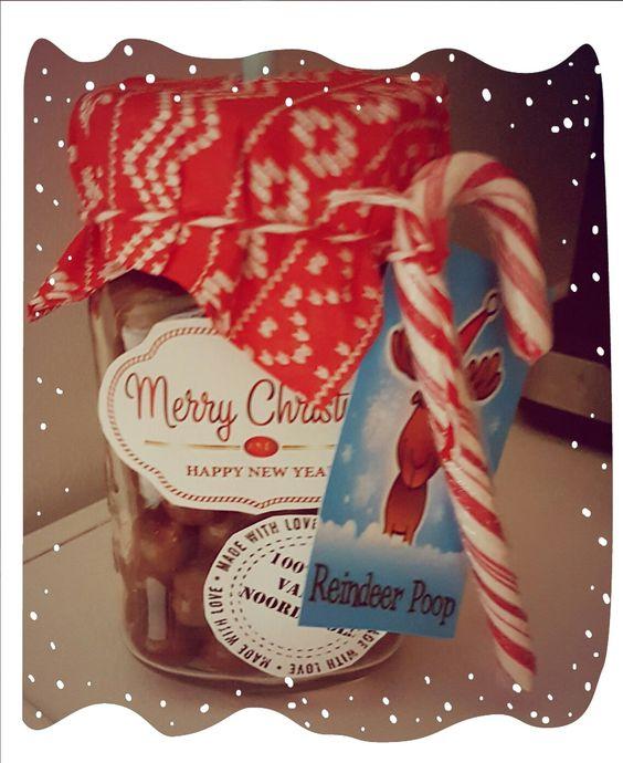 Christmas gift in a jar Reindeer poop  Rendier poep
