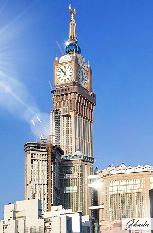 abraj al bait mecca royal hotel clock tower is the 3rd tallest building in the world clock. Black Bedroom Furniture Sets. Home Design Ideas