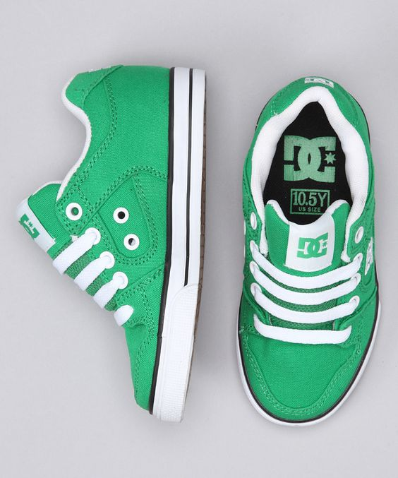 Emerald & White #Sneaker by DC on #zulily