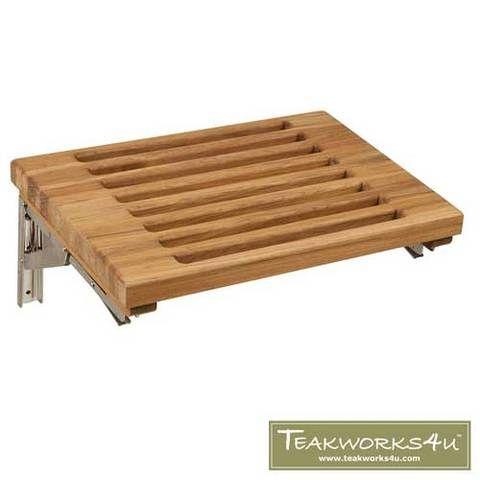30 Wide Teak Wall Mount Fold Down Teak Shower Seat Shower Seat