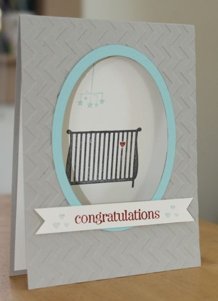 Gender-Neutral Baby Card with Window