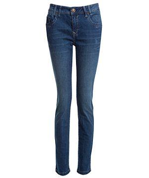 Blue Pattern (Blue) 30in Skinny Jeans | 254157349 | New Look