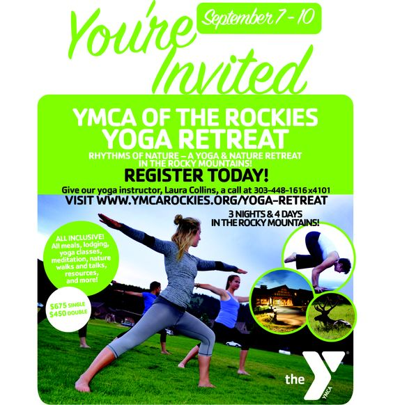Spots Available Still!!  Flier for Upcoming Yoga and Nature Retreat - Starts Labor Day!  $450 double room, $650 Single Room, all meals, lodging, yoga, nature hikes...and more!