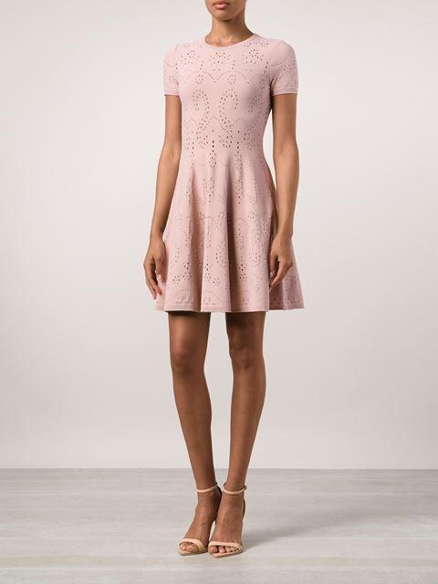 VALENTINO perforated dress