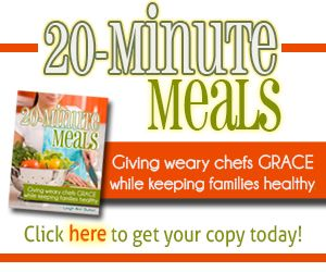 If you are looking for simple, nutritious meals for your family without having to resort to pre-packaged, processed foods or carry-out…   This book costs less than the price of one boxed convenience meal or one drive-thru order!