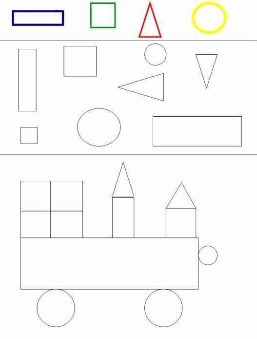 Arbeitsblu00e4tter fu00fcr kinder zum ausdrucken. Geometrischen Formen 28 : Formes maternelle ...