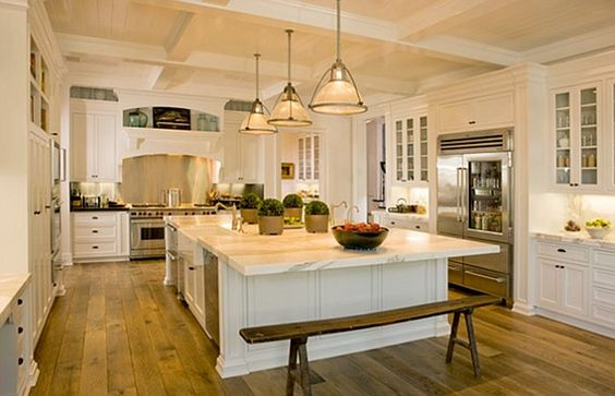 Gwyneth Paltrow Kitchen. Love the bench: White Kitchen, Celebrity Kitchen, Dream House, Kitchen Design, Rob Lowe
