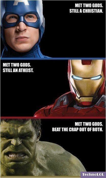 Avenger Humor: Met Two Gods