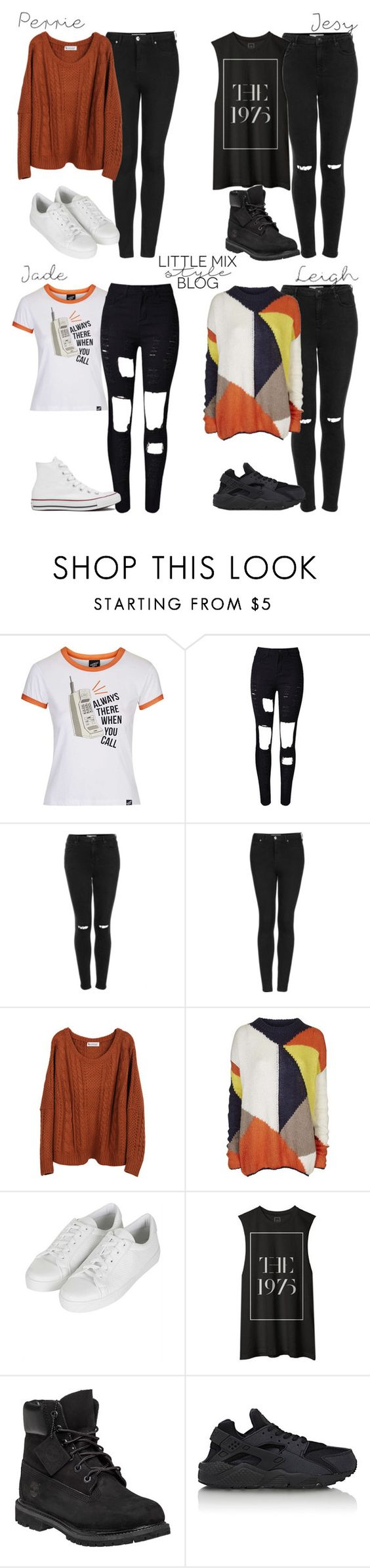 """""""*REQUESTED* LM Inspired Casual Outfits with Black Jeans"""" by littlemix-styleblog ❤ liked on Polyvore featuring Topshop, Timberland, NIKE, Converse, women's clothing, women, female, woman, misses and juniors"""