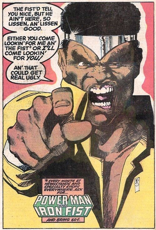 Image result for ironfist and luke cage ad 70s
