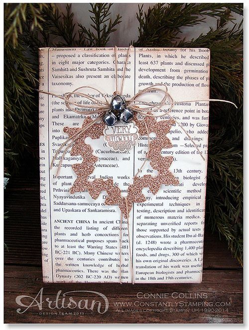Love this gift wrapping: Stampinup, Papercraft, Giftwrap, Creative Gift, Christmas Card, Christmas Gift, Flurry Framelit