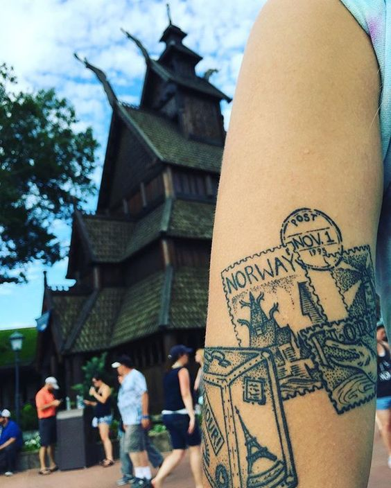 Another park inspired tattoo ❤️ #Norway #tattoo #disneytattoo #parks #epcot #disneyink