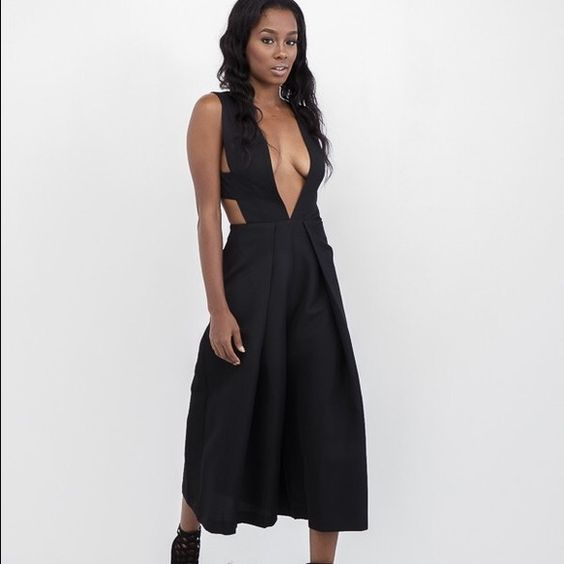 Endless rose black jumpsuit worn once Size small worn once n dry cleaned. Brand name endless rose Nasty Gal Pants Jumpsuits & Rompers