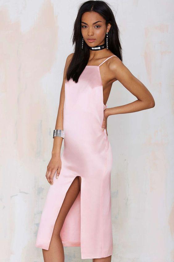 Karla Spetic Lorelei Pink Silk Slip Dress - Thanks- It&-39-s New ...
