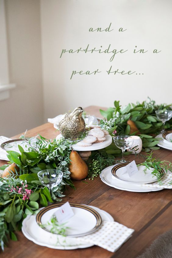 twelve days of christmas holiday tabletop setting by coco+kelley