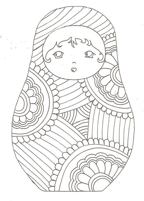 ATELIER DES POUPEES RUSSES ET CONNAISSANCE DE SOI, une petit particulier pour se connaitre  contact Hélène metamorphose.helene at yahoo.fr  °°°°°°°°°°°°°°°°°   Matryoshka coloriage