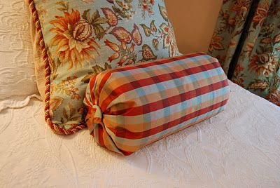 The end the long and pillow tutorial on pinterest Sew bolster pillow cover