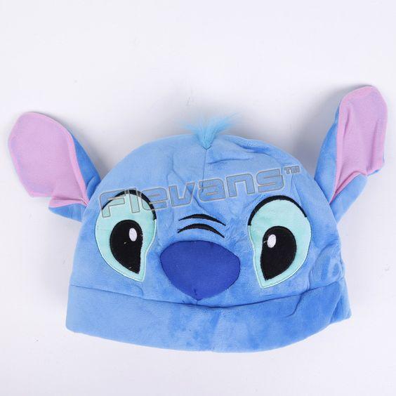 Anime Cartoon Pikachu Rilakkuma Stitch Kiki's Delivery Service Jiji Plush Hats Dolls Stuffed Toys Cosplay Winter Hat Cap 4Styles