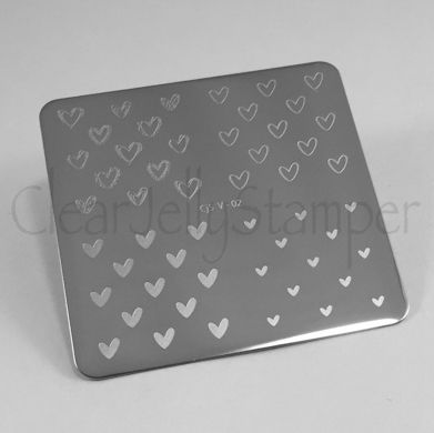 Clear Jelly Stamper- Super Cute Hearts (V-02)