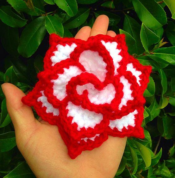 Crochet Rose Pattern No Sew : Rose