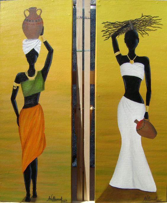 oleo africanas cuadros