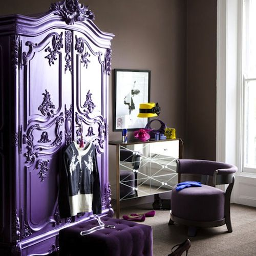 A purple armoire, this would be my ideal piece of furniture.