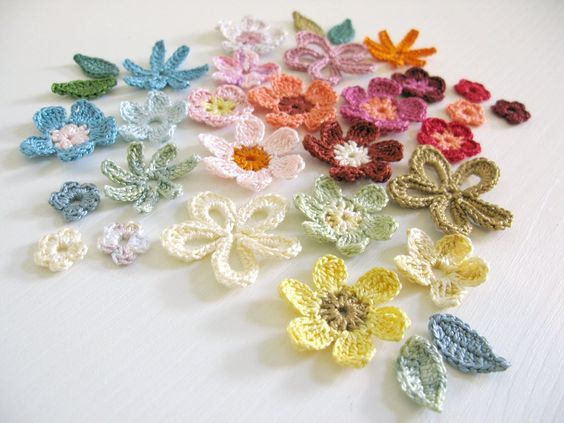 pretty crochet flowers: