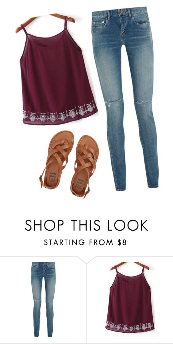 """""""#114"""" by paugarza002 on Polyvore featuring moda, Yves Saint Laurent y Billabong"""