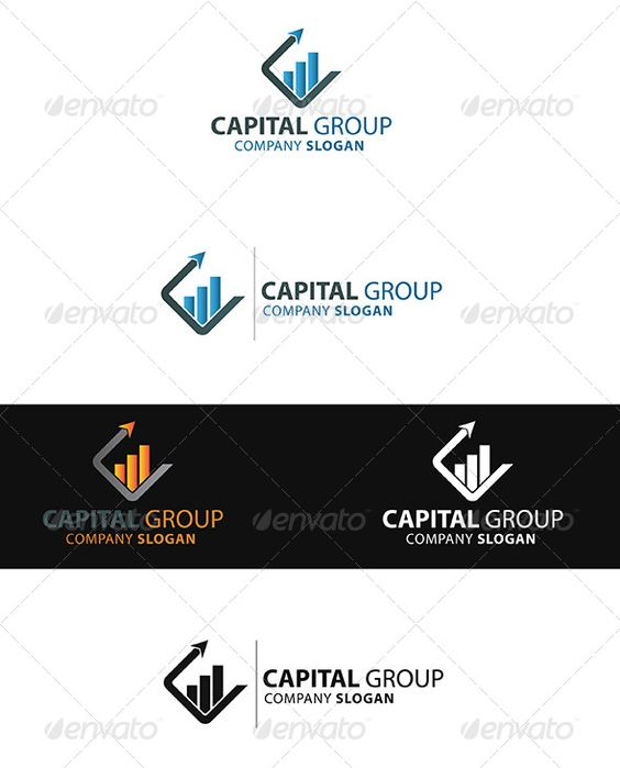 Capital Group  Logo Template — Vector EPS #strategy #level • Available here → https://graphicriver.net/item/capital-group-logo-template/4212327?ref=pxcr
