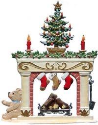 Kamin zu Weihnachten | Wilhelm-Schweizer Zinnfiguren