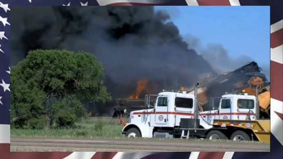 LIVE from Panhandle,Texas - Train Derailment, Causing Large Fire