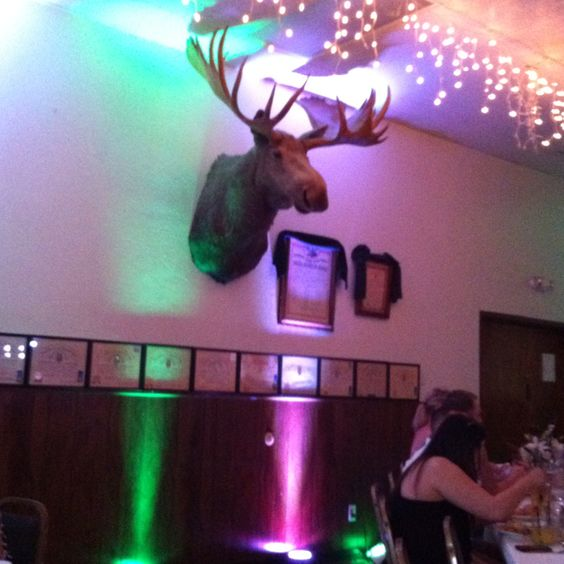 Moose lodge weddings are kinda cool!