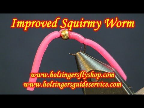 White Squirmy Worms Size 10 Set of 3 Fly Fishing flies Bung