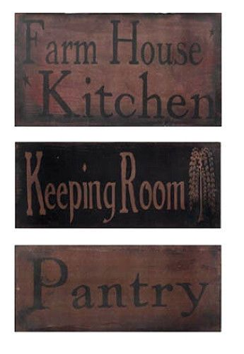 New Primitive Country Folk Art FARMHOUSE KITCHEN KEEPING ROOM PANTRY Sign Plaque