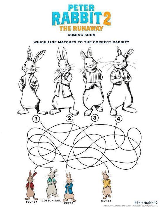 Free Printable Peter Rabbit 2 Easter Coloring Pages Activity Sheets Easter Coloring Pages Free Printable Activities Coloring Pages
