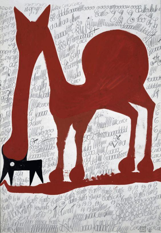 Carlo  sans titre, 1967  gouache et mine de plomb sur papier  70,5 x 50 cm  © crédit photographique  Collection de l'Art Brut, Lausanne