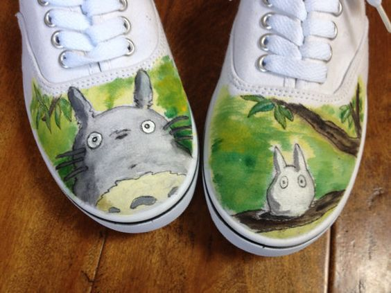 Hand Painted Anime Shoe - My Neighbor Totoro Hand Painted Keds