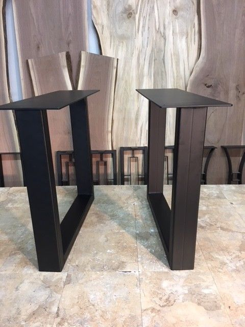 28 Inch Tall Steel 1700 Series Square Dining Table Base Part G