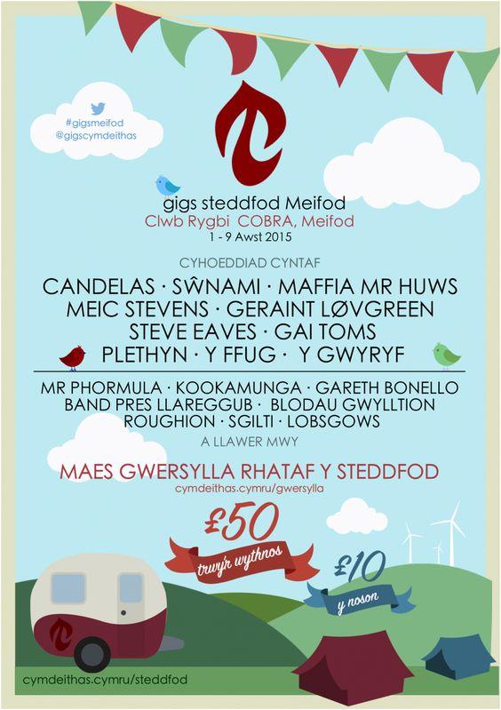 Steddfod Genedlaethol Meifod - Gigs Cymdeithas yn y COBRA | Cymdeithas yr Iaith Gymraeg