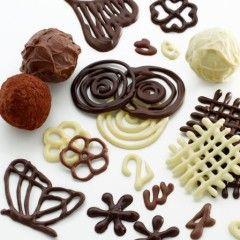 decoration en chocolat facile à réaliser planche pour deco chocolat pâtisserie et deco.jpg, août 2013
