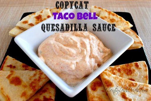 Copycat Taco Bell Quesadilla Sauce Recipe Yummly Recipe Taco Bell Quesadilla Sauce Quesadilla Sauce Taco Bell Quesadilla