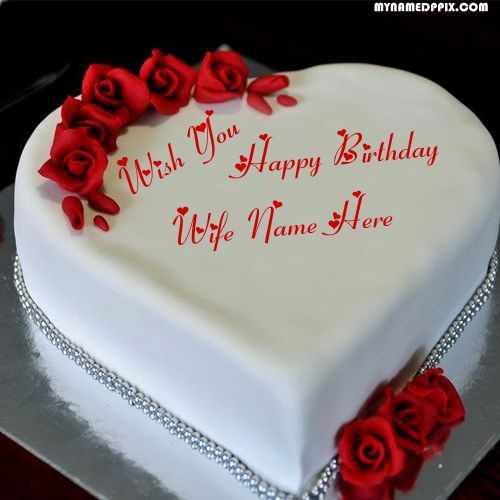 Awesome Wife Happy Birthday Name Cake Image Edit Photo Online Create In Funny Birthday Cards Online Sheoxdamsfinfo