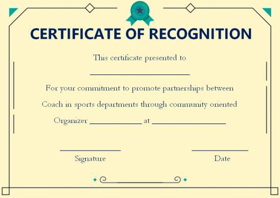 Coach Certificate Of Appreciation 9 Professional Templates For