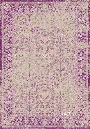 Orientalischer Design Teppich Kumsal   mit Hochtief- Optik, Größe:200x300;Farbe:lila/creme: Amazon.de: Küche & Haushalt