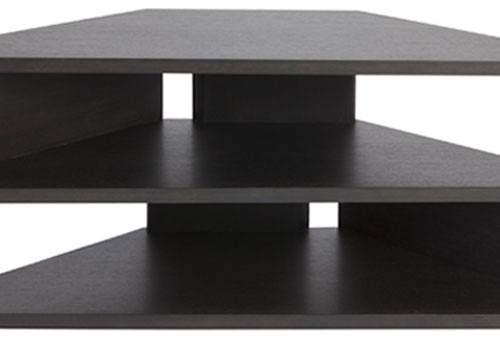 Greenapple - Zed TV Stand - Triangular Design in Black Gloss - White Gloss - Charcoal - Wenge - Walnut - Oak Finishes | Sofa and Home