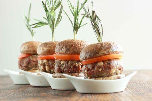 mushroom beef sliders minus bread crumbs