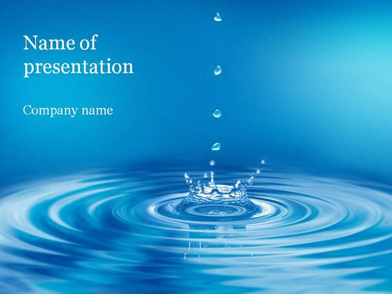 Clear Water PowerPoint Template Android Wallpapers Pinterest - water powerpoint template