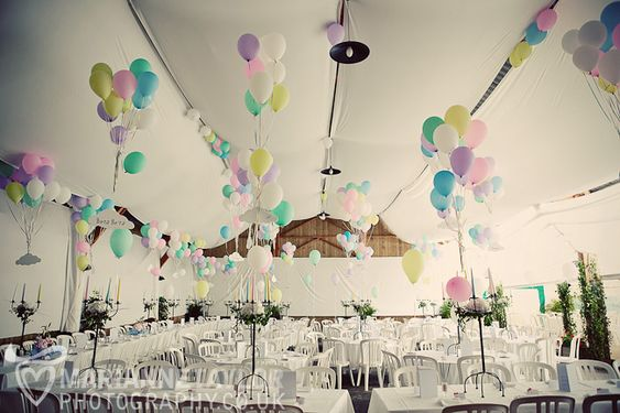 only French people can make balloons and plastic chairs look so chic!