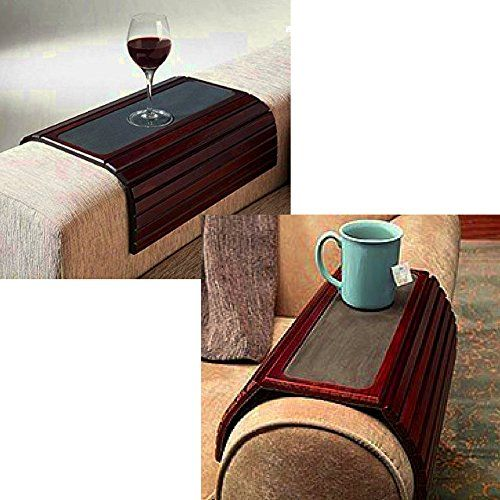 Armchair Tray Table Slatted Wooden Adjustable Flexible Brown Small Portable Modern Sofa Couch Armchair Armrest Coffee Ta Modern Sofa Couch Modern Sofa Armchair